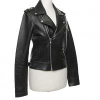Maje biker style leather jacket  Angle1