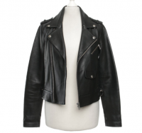 Maje biker style leather jacket  Angle2