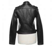 Maje biker style leather jacket  Angle3