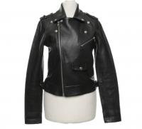 Maje biker style leather jacket  Angle4