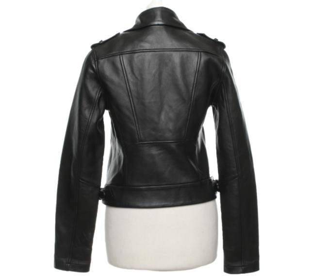 Maje biker style leather jacket