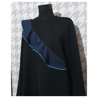 Ganni Black Dress. Angle2