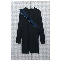 Ganni Black Dress. Angle4