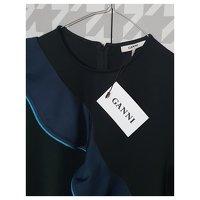 Ganni Black Dress. Angle5