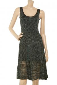 Semi Sheer Fine-knit tank dress