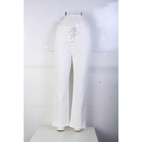 Chloe White Flare Jeans Pant Angle4