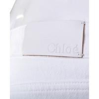 Chloe White Flare Jeans Pant Angle7