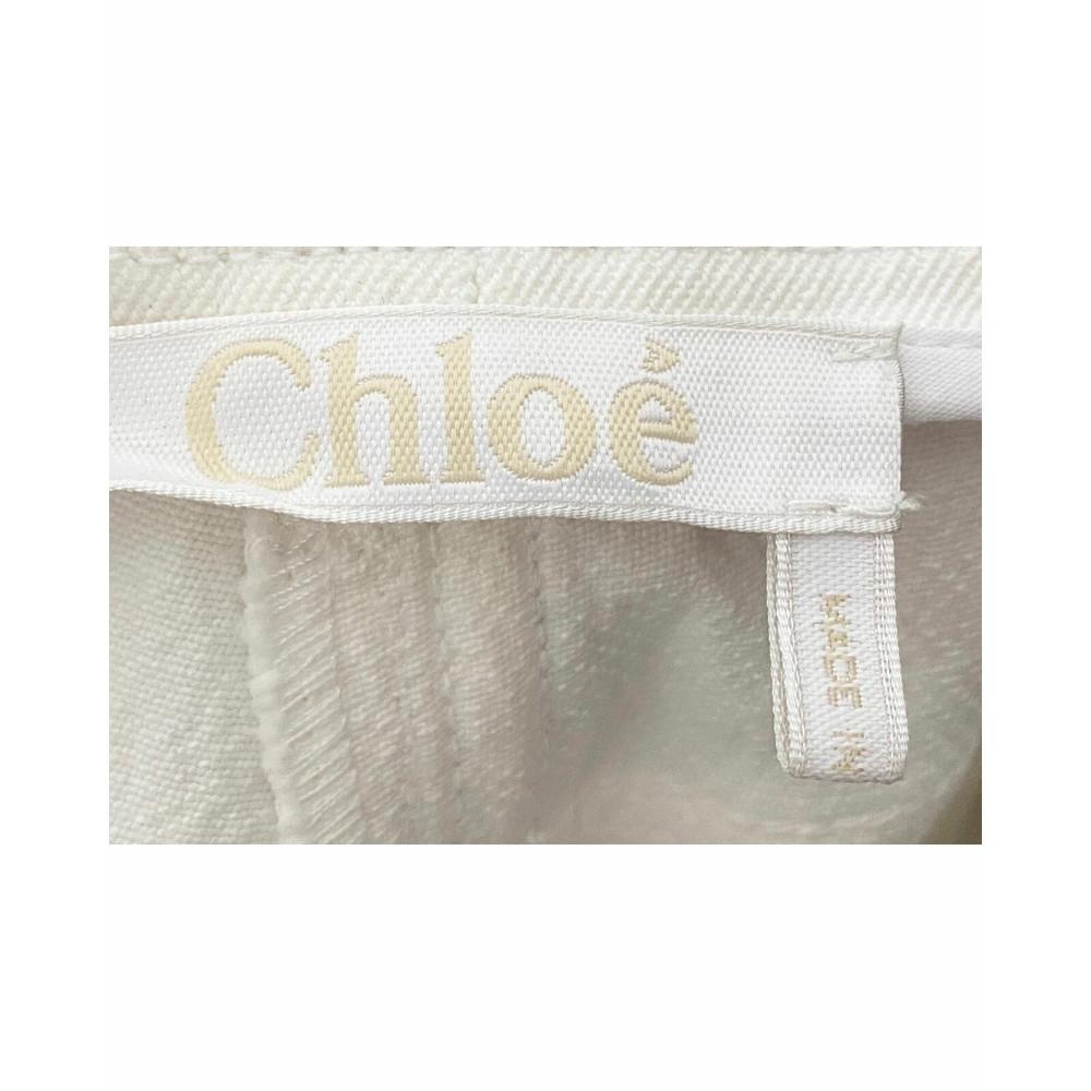Chloe White Flare Jeans Pant