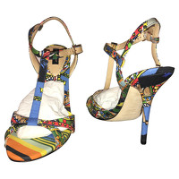 Dolce & Gabbana Leather Sandals In Multicolor