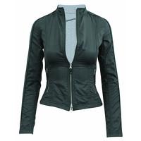 Elie Tahari Jacket With Metallic Zippers Angle2