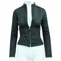 Elie Tahari Jacket With Metallic Zippers Angle3