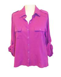 ALICE + OLIVIA Purple Silk Blouse T