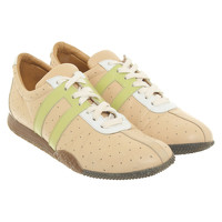 Bally Leather Trainers With Lace Pattern
