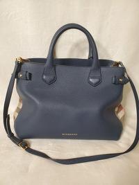 Burberry bag with classic print side panels Angle2