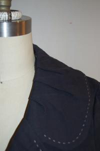 Nanette Lepore Blue Collared Button Angle2