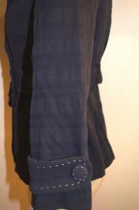 Nanette Lepore Blue Collared Button Angle5