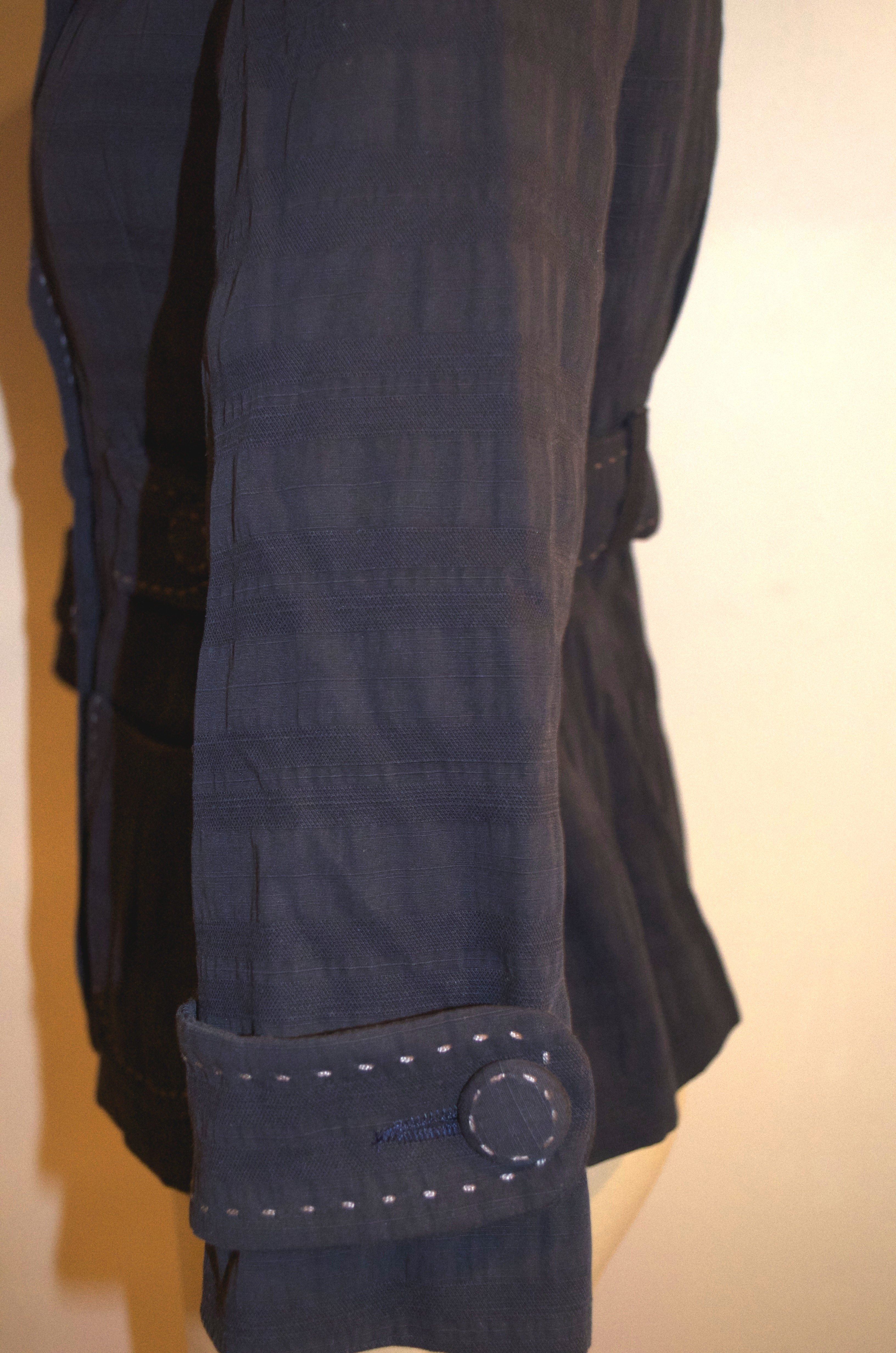Nanette Lepore Blue Collared Button