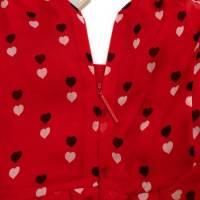 Christopher Kane Red Silk  Midi Dress Angle4