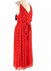 Christopher Kane Red Silk  Midi Dress Angle5