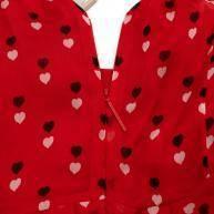 Christopher Kane Red Silk  Midi Dress Angle8