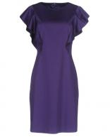 Alberta Ferretti Purple Ruffled Dress