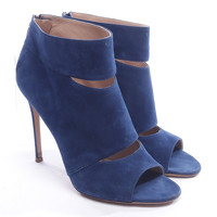 Gianvito Rossi Leather Ankle Boots With Open Cut