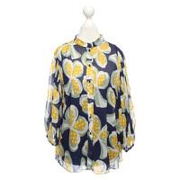 Diane Von Furstenberg Top With Stand Up Collar