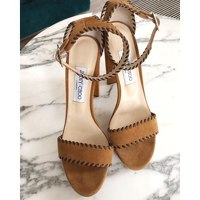 Heeled Lather Sandals by Jimmy Choo