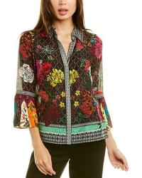 Rivera Silk-blend Top by Alice and Olivia