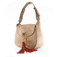 Tory Burch tassle suede bag Angle2