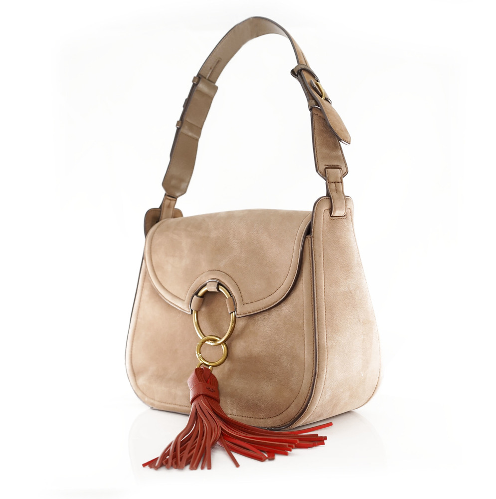 Tory Burch tassle suede bag