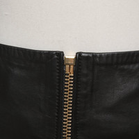 Alexandre Vauthier Skirt With Gold Colored Zipper Angle4