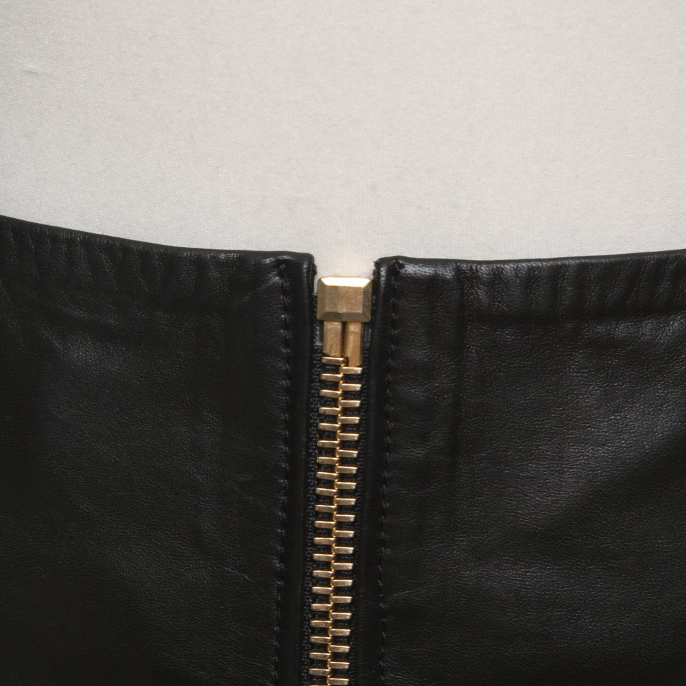 Alexandre Vauthier Skirt With Gold Colored Zipper