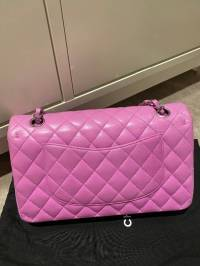 Chanel Double Flap Lavender pink bag Angle3