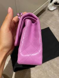 Chanel Double Flap Lavender pink bag Angle5
