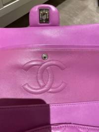 Chanel Double Flap Lavender pink bag Angle6