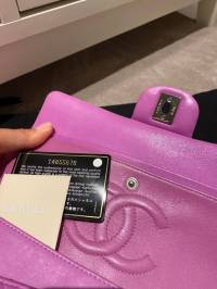 Chanel Double Flap Lavender pink bag Angle8