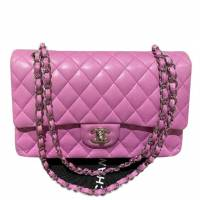 Chanel Double Flap Lavender pink bag Angle1