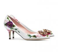 Dolce & Gabbana  Crystal Embellished Floral Pumps