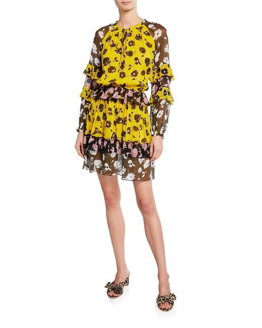 Diane von Furstenberg Multicolor Printed Silk Drop