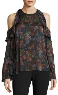IRO Floral Print With Cold Shoulder Blouse Angle1