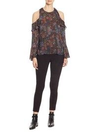 IRO Floral Print With Cold Shoulder Blouse Angle2