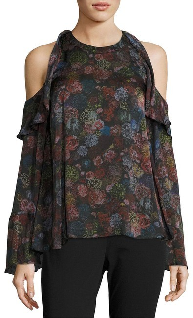IRO Floral Print With Cold Shoulder Blouse