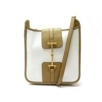 Bicolor Leather Handbag by Hermes