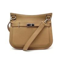 Beige Leather Handbag by Hermès