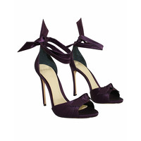 Alexandre Birman Leather Sandals In Violet Color