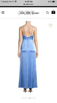 Baby Blue High Midi Formal Dress by Alice & Oliva