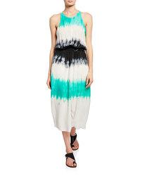 A.L.C. Multi Color Tye Dye Sleeveless Belted Dress