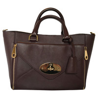 Mulberry Tote Bag In Bordeaux Color