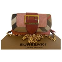 Burberry Buckle Mini Leather Hand Bag